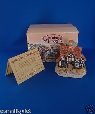 "David Winter Cottages ""The Rectory "" In Original Box with COA 1993"