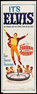 FRANKIE AND JOHNNY - 1966 - original ROLLED 14x36 Insert movie poster -  ELVIS