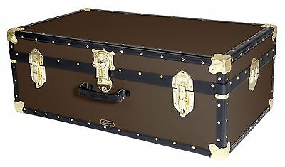 BROWN Traditional British Mossman Made Vintage Classic Car Luggage Storage Trunk