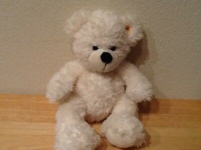 "Steiff White Bear Polar Bear Bean Bag Plush 11"" Lotte Teddy Bear"
