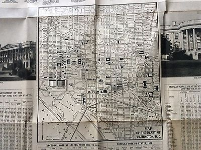 1920 Map Of Washington Dc Vintage