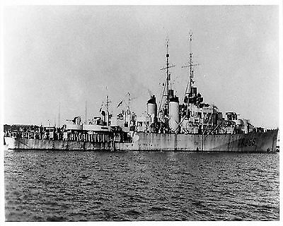 Royal Canadian Navy Frigate Hmcs Ste Therese K366  With Stats And History Sheet