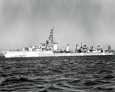 Royal Canadian Navy Destroyer Hmcs Huron G24 With Stats And History Sheet