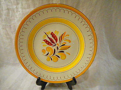 Dinner Plate, Stangl Pottery, Provincial Pattern, Yellow Red Flower, New Jersey