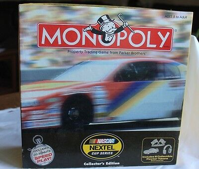 Monopoly NASCAR® NEXTEL® Cup Series Collector's Edition Board Game - Complete