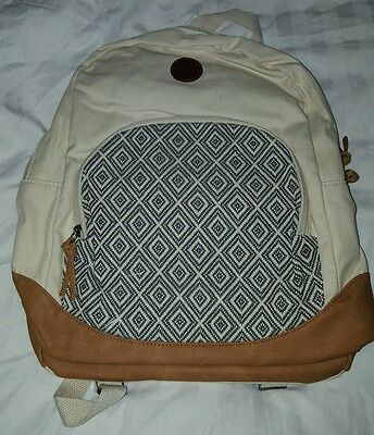 Cream Roxy backpack/rucksack
