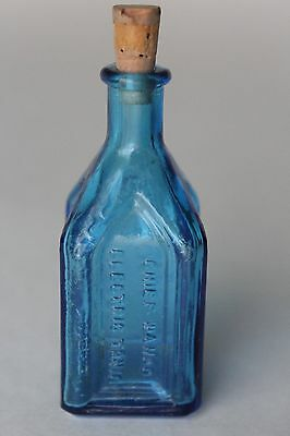 "Vtg Blue Chief Wahoo Electric Tonic Cathedral Brand Miniature 3"" Bottle"