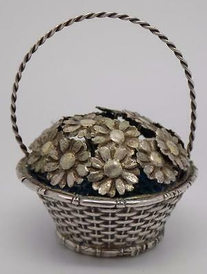 Vintage Solid Silver Flower Basket - Stamped - Made in Italy - Branded! RARE