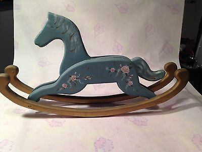 Hand Painted Wood Large Decour Rocking Horse