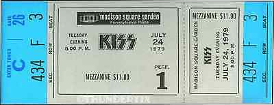 10 1974 -88  KISS VINTAGE UNUSED FULL CONCERT TICKETS scrapbooking collect cool