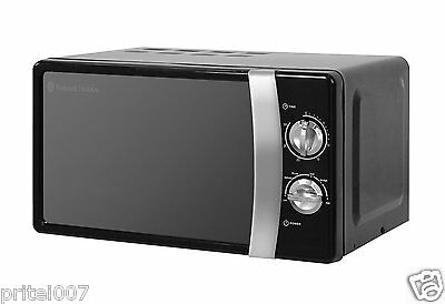 New Russell Hobbs 17L Freestanding Manual Microwave, 5 Power Levels, 700W, Black