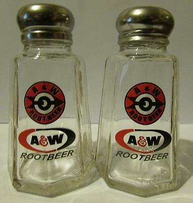 Charming Set of 2 A & W Rootbeer Salt and Pepper Shakers