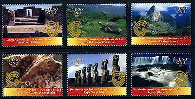 UN - Geneva . 2007 South America . Booklet Singles (6) .  Mint Never Hinged