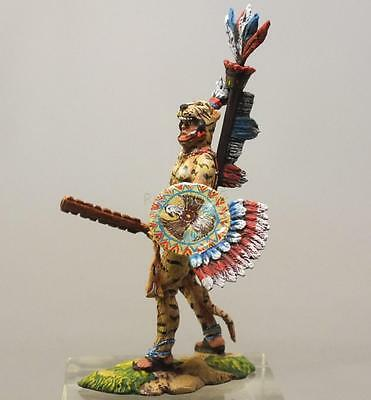 Tin Soldier, Semi-collector quality, Aztec warrior, Indians, USA, 54 mm