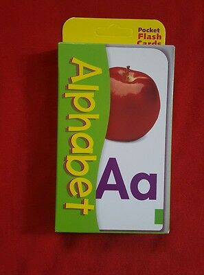 Kids Educational Learning  Alphabet Picture And  Letter  Pocket Flash Cards