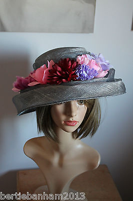 grey pink purple red ladies occasion hat brand new by balfour ascot races