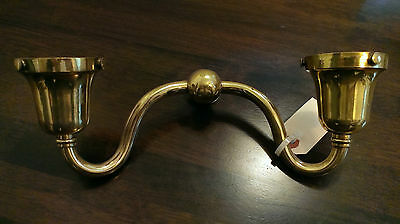 Nice Early 20th Century Brass Double Wall Sconce Electric or Gas? Light Fixture