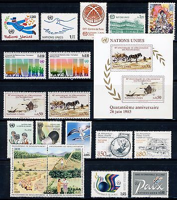 UN - GENEVA 1985 & 1986 Stamps, Sheets (129-150) . Mint Never Hinged