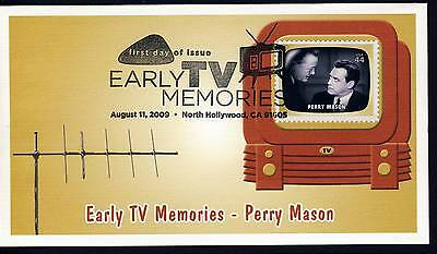 US 2009 Early TV Memories - PERRY MASON . Fleetwood First Day Cover