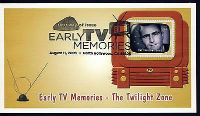 US 2009 Early TV Memories - THE TWILIGHT ZONE . Fleetwood First Day Cover