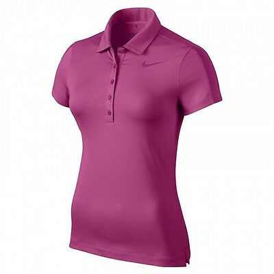 Nike Ladies Swoosh Polo Top Hot Pink