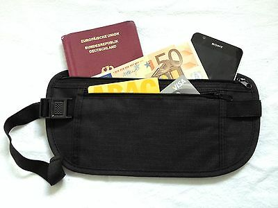Travel Money Belt Tavel Passport Wallet Moneybelt Safetybag Waist Bag Fanny Pack
