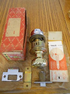 Vintage Nos Yale Bathroom Lock Door Handle Set Original Box Troy Design 2 Tone