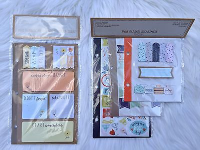Target Dollar Spot Mini Binder Planner Stickers Page Flags Labels Lot of 2