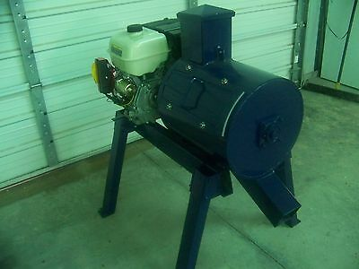 "Beast Rock/glass Crusher, 27 Impact Hammers  16"" X 18"" Drum  Gas Eng.  5"" Rock"