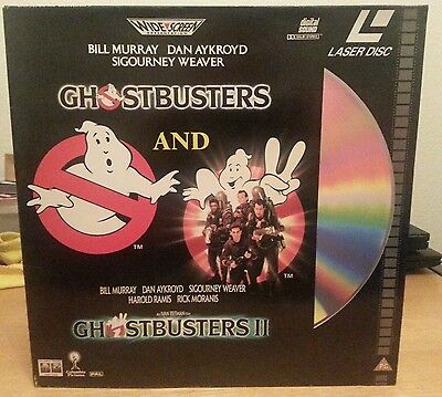 *SLEEVE ONLY* LASERDISC - GHOSTBUSTERS 1 AND 2 GATEFOLD PAL UK RELEASE .No DISCS