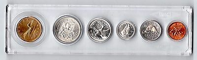 1988 $1 Dollar 1986 1985 1989 Canada Coin Set UNC in Whitman case
