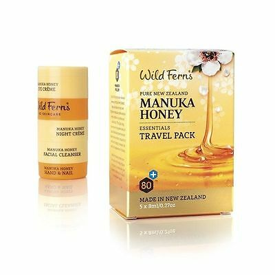 WILD FERNS MANUKA HONEY ESSENTIALS CREAM SET TRAVEL PACK 5x8 ml