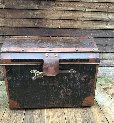 Antique Dome Travel Trunk Chest