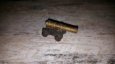 Vintage Toy Cast Iron & Brass Cannon - Fast Shipping!!