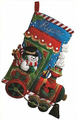 Bucilla 18-Inch Christmas Stocking Felt Applique Kit 86147 Candy Express