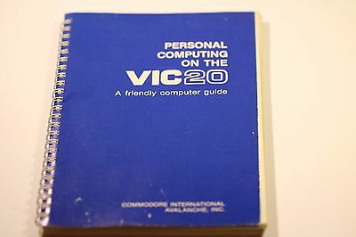 Vintage Personal Computing on the VIC-20 Computer Guide Commodore Book