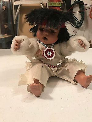 Native American Porcelain Doll, Head hands and legs, long eye lashes