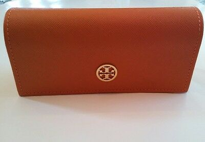 Authentic Tory Burch Sunglasses/Eyeglasses Leather Case Large clutch