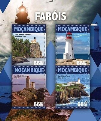 Z08 IMPERFORATED MOZ16125a MOZAMBIQUE 2016 Lighthouses MNH
