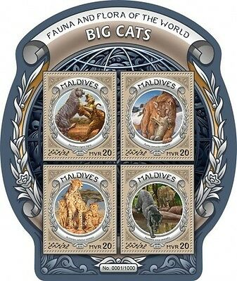 Z08 MLD16301a MALDIVES 2016 Big Cats MNH