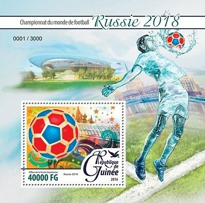 Z08 IMPERFORATED GU16221b GUINEA (Guinée) 2016 Football - Russia 2018 MNH