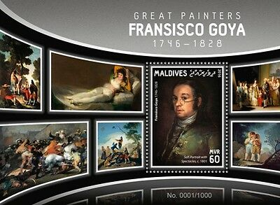 Z08 MLD16104b MALDIVES 2016 Francisco Goya MNH