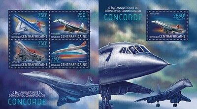 CA13511ab Central Africa 2013 Concorde MNH SET