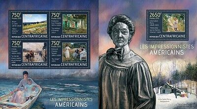 CA13513ab Central Africa 2013 American impressionists MNH SET