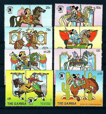 Disney 505 The Gambia SC# 898-905 World Stamp Expo Set of Stamps Mint