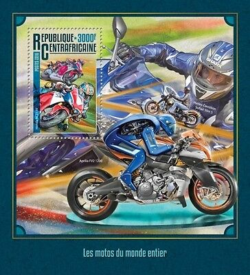 Z08 IMPERFORATED CA16213b CENTRAL AFRICA 2016 Motorcycles MNH