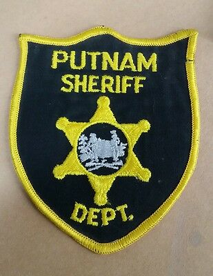Putnam County, West Virginia Sheriff Police Black/yellow Shoulder Patch Wv