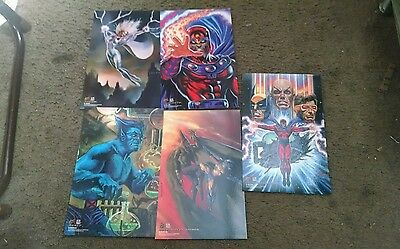 X-Men 1994 Fleer Ultra Ultra Prints Case Topper Set Of 5 Jumbo Cards *