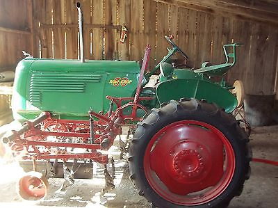 Restored 1950's Oliver 60 Row Crop Tractor with Cultivators