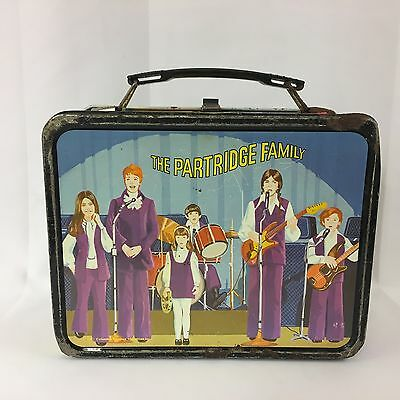 Vintage The Partridge Family Metal Lunchbox 1971 TV Show David Cassidy